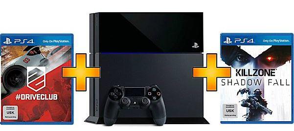 SONY PlayStation 4 inkl. Drive Club & KillZone: Shadow Fall für 479€ vorbestellbar!