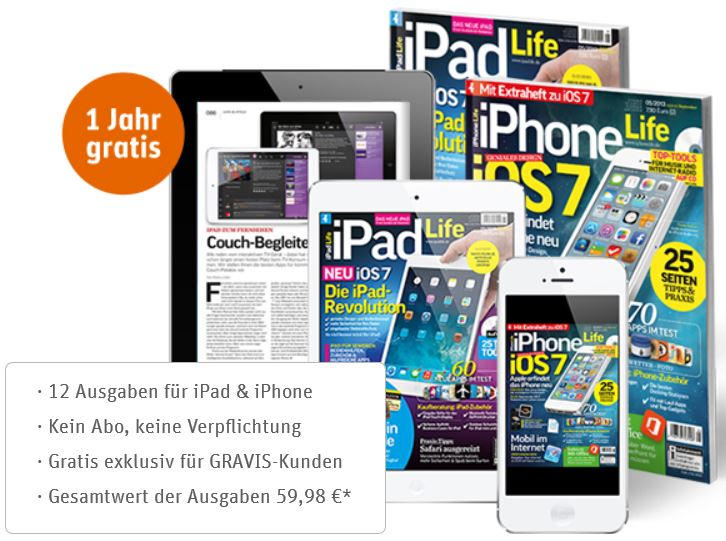 1 Jahr kostenlos digitales Abo iPhone Life / iPad Life Magazins   Update