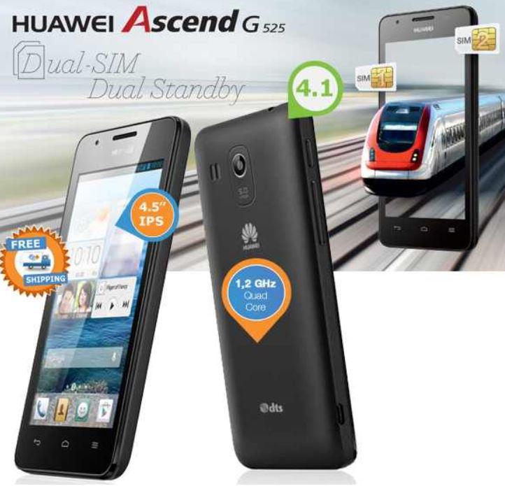Huawei Ascend G525 Smartphone mit Android 4.1 und Quad Core Prozessor für 169,95€