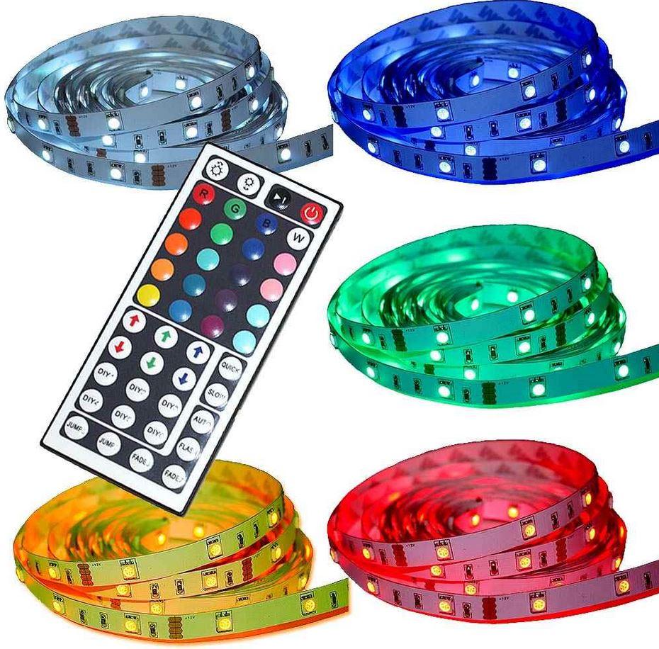 5m LED SMD flexible Lichtleiste, inkl. Netzteil, neuer Fernbedienung für 15,99€