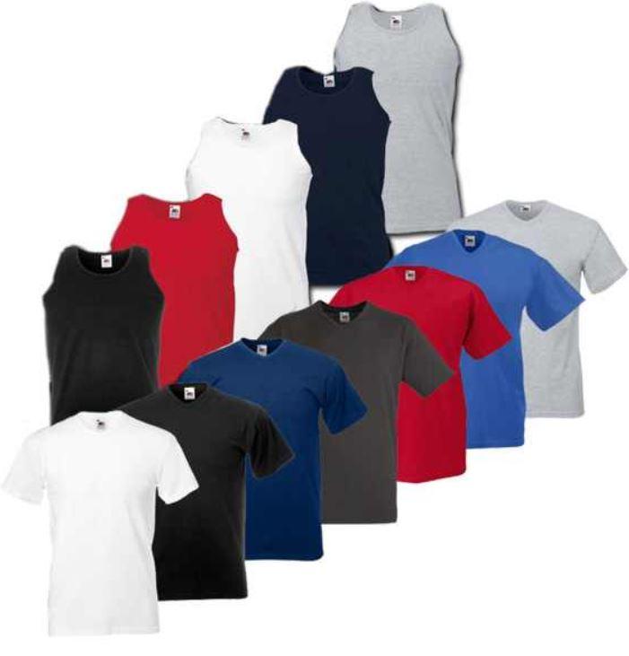 Fruit of the Loom, 5x T Shirts Athletics Vest oder Valueweight V Neck für je Set 11,99€   wieder da!