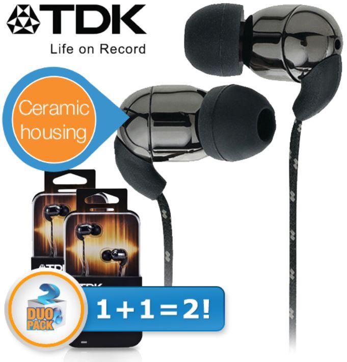 TDK IE500   In Ear Kopfhörer mit Keramik Gehäuse im Doppelpack für 25,90€ Update!