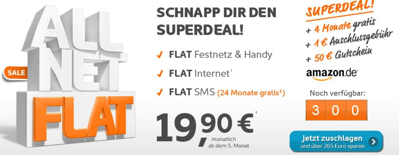 Simyo All Net Flat mit SMS und Internet Flat für effektiv nur 14,54€
