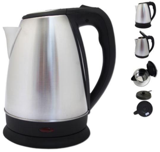 Edelstahl Wasserkocher kabellos 1,7L  für 9,90€