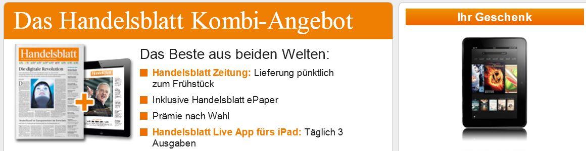 Update! Preisfehler! Kindle Fire HD + Handelsblatt Monatsabo für 57,89€!
