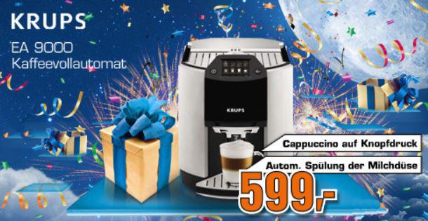 KRUPS Automatic Espresso EA 9000   Kaffeevollautomat für 599€ statt 969€   wieder da!