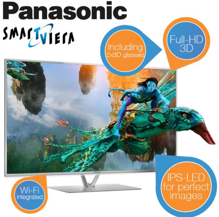 Panasonic TX L47FT60   47er 3D TV mit IPS Display, WiFi, USB3 für 758,95€   wieder da!