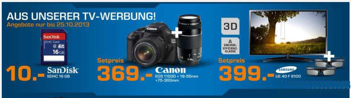 Samsung UE40F6100 für 399€ statt 501€ und mehr Saturn Angebot!