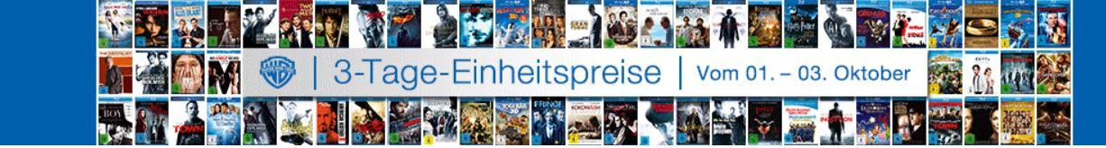 Amazon DVD und Blu ray Angebote im 3 Tage Einheitspreise Sale