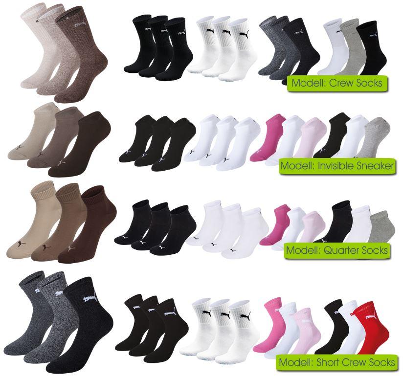 9 PUMA Quarter   Socken Strümpfe für je Set 19,99€