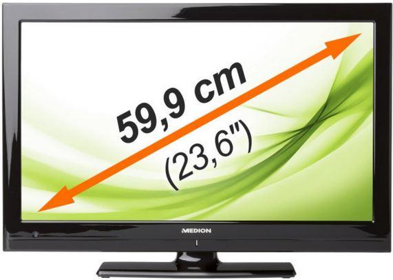 MEDION LIFE MD 20255   23Zoll FullHD TV mit tripple Tuner und DVD Player für 139,99€
