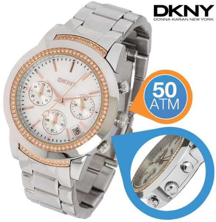DKNY Damen Armband Uhr für 95,90€ (Vergleich 185,07€)