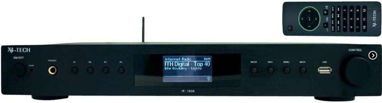 X4 TECH IR 1600   Internet Radio mit WLAN und USB für 109,90€