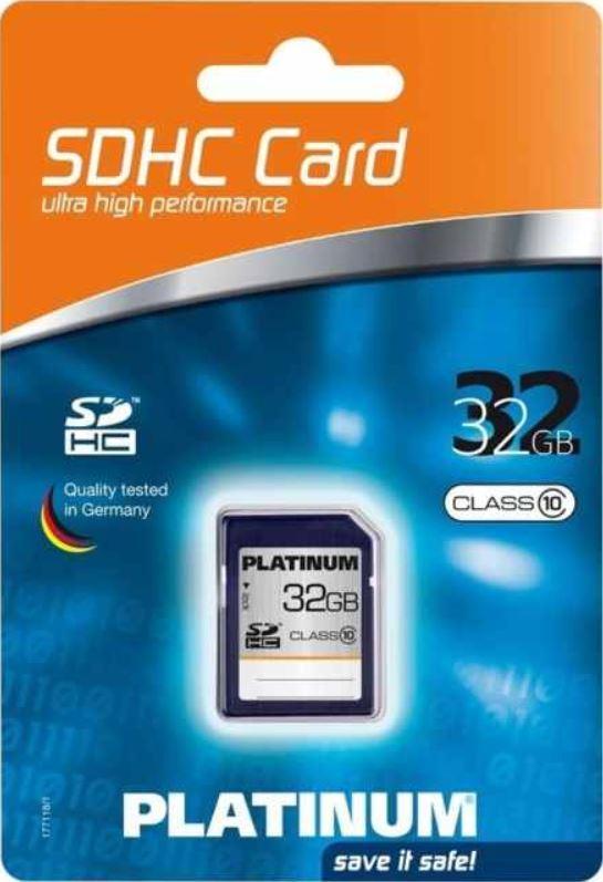 Platinum SDHC Karte 32GB, Class 6 für 11,90€