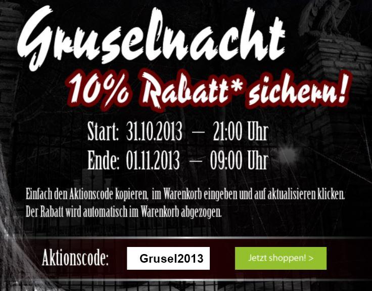 Vorankündigung: ab 21Uhr 10% Rabatt bei der Galeria Kaufhof