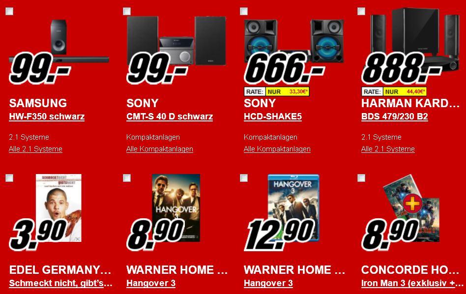 Einbauherd für 199€, APPLE TV für 79€ und mehr Angebote bei Media Markt Neueröffnung