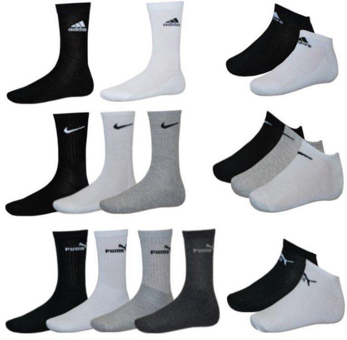 Adidas, Nike, Puma   9er Pack Sneaker oder Sportsocken für 19,99€   Update!