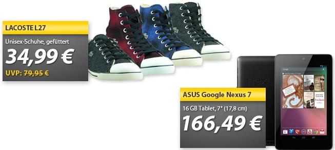 Asus Google Nexus 7 16GB & LACOSTE Schuhe L27   OHA Deals