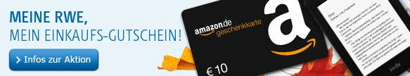 10€ Amazon Gutschein für RWE Kunden