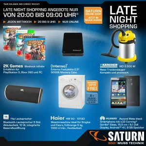 Saturn Late Night Shopping Deal ist Online!