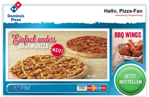 10€ Rabatt bei Dominos Pizza   für Neu  und Bestandskunden