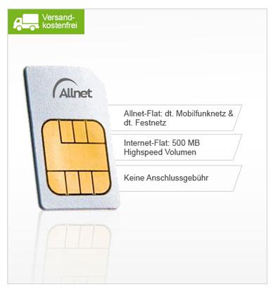 Vodafone Allnet Flat für 9,99€   inkl. 500 MB Internetflat