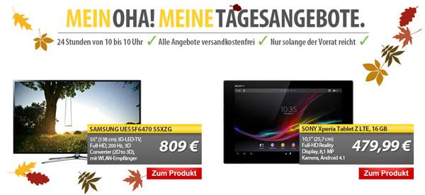 Samsung UE55F6470 für 809€ als OHA! Tagesangebot   55″ 3D SmartTV mit Triple Tuner   für 760€ bei Media Markt