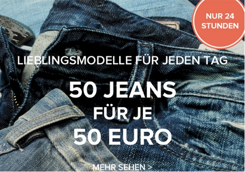 50 Jeans für je 50€ bei dress for less