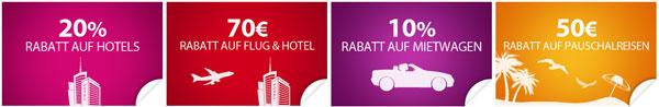 20% Rabatt auf viele Hotels bei eBookers + weitere Gutscheine