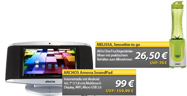 ARCHOS ARNOVA SoundPad & Smoothie to go   OHA Deals