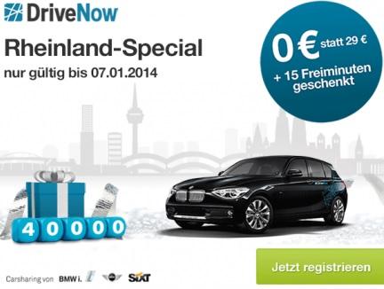 DriveNow jetzt für Köln & Düsseldorf kostenlos anmelden + 15 Freiminuten   Update!