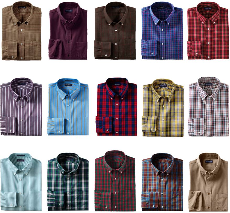 Lands´End Herren Hemden   15 verschiedene Modelle für je 17,95€