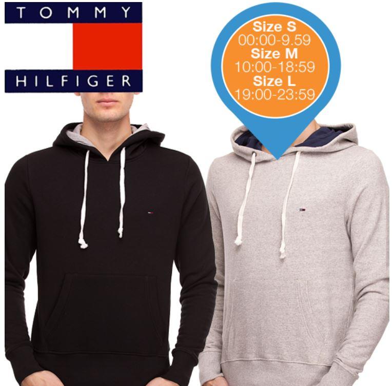 Tommy Hilfiger Hoodies im Doppelpack   Schwarz und Grau für zusammen 95,90€