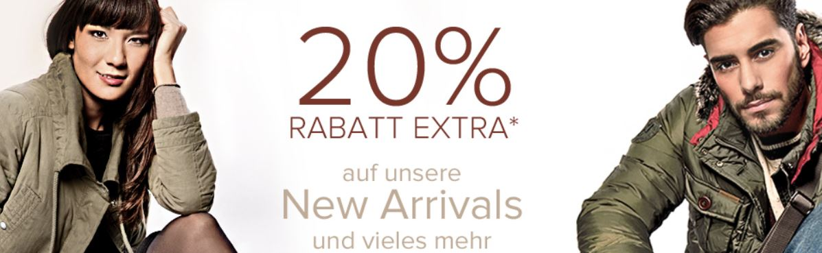 dress for less   20% extra Rabatt auf New Arrivals + 10% Gutschein