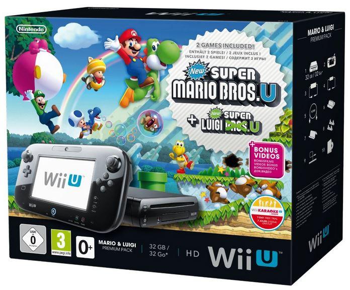 Nintendo Wii U Premium 32GB mit Super Mario und Luigi Bros für 249,90€