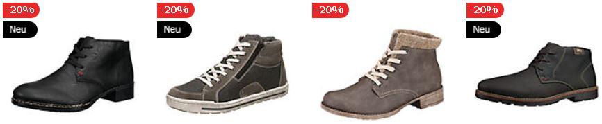 Mirapodo 7 Tage Sale   heute 349 rieker Schuhe mit 20% Extra Rabatt