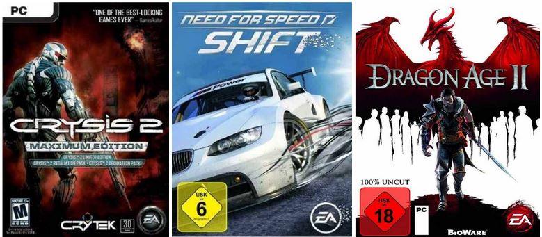 Crysis 2 Maximum, Dragon Age 2 und mehr Games bei den Amazon PC Weekend Downloads