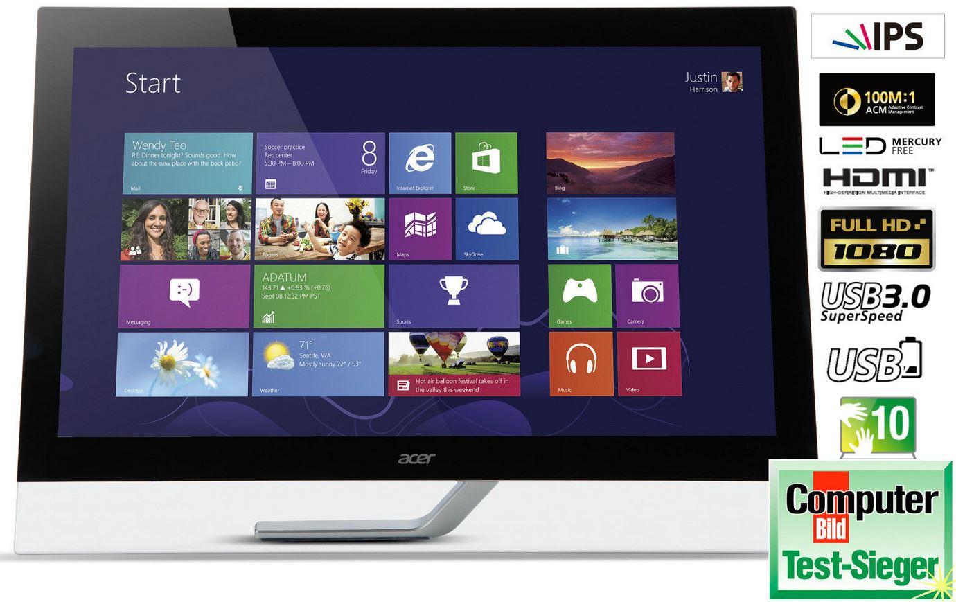 Acer T232HLbmidz    23 Zoll Touchscreen Monitor für 199,99€