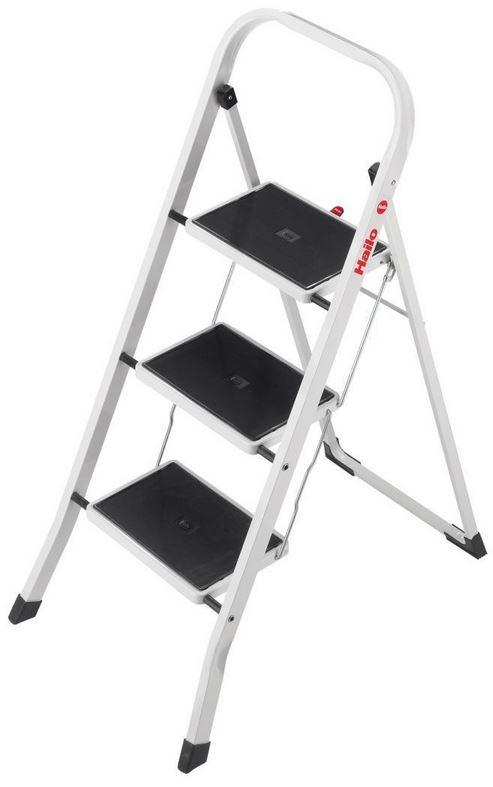 Hailo K20   3 Stufen Stahl Haushaltsleiter für 34,95€