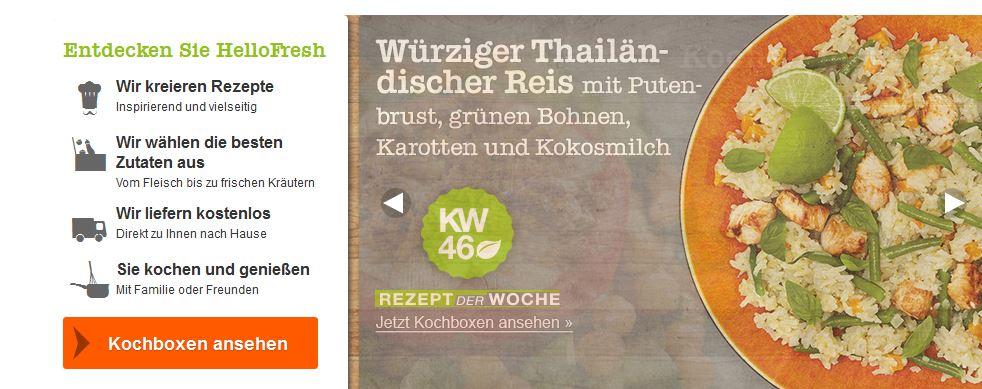Update! HelloFresh dank 21€ Gutschein für Classic, Veggie Boxen mit 6 Portionen für je 18€