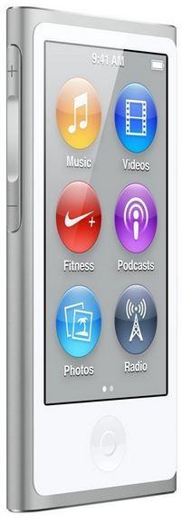 Apple iPod Nano 16GB, aktuelle 7. Generation in silber für 109,90€