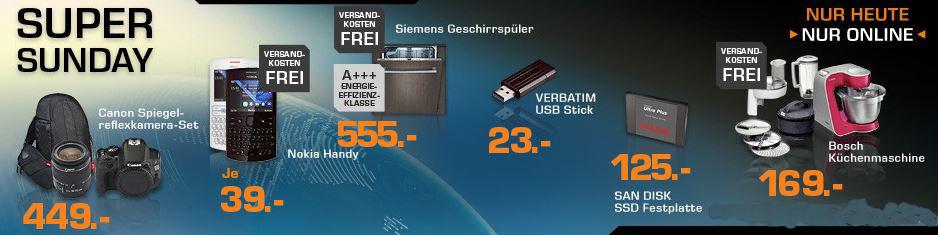 Siemens SN65N030EU Geschirrspüler für 555€ (Vergleich 608€) bei den Saturn Super Sunday Angeboten!