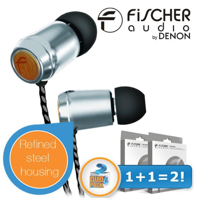 DENON Fischer Audio Silver Bullet   In Ears Duopack Kopfhörer für 45,90€