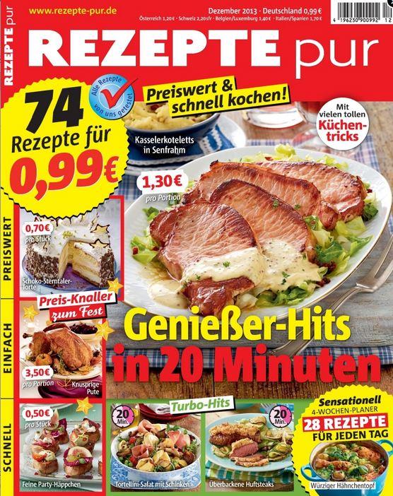 6 + 4 Ausgaben Rezepte pur + KNIRPS Regenschirm (Wert 35€) für nur 5,94€
