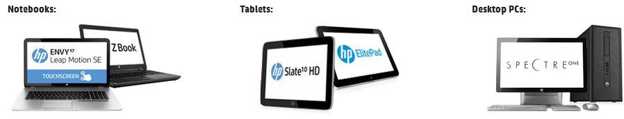 HP mit 12% Rabatt auf alle Notebooks, Desktop PCs und Tablets   Update!