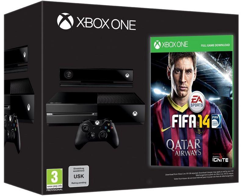 Tipp! Xbox One Konsole    Day One Edition mit FIFA 14 für 499€ sofort Lieferbar