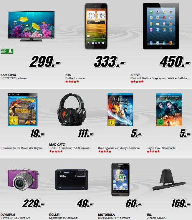 Apple iPad 4 WiFi + Cellular 16GB für 450€ und mehr beim MediaMarkt Adventskalender