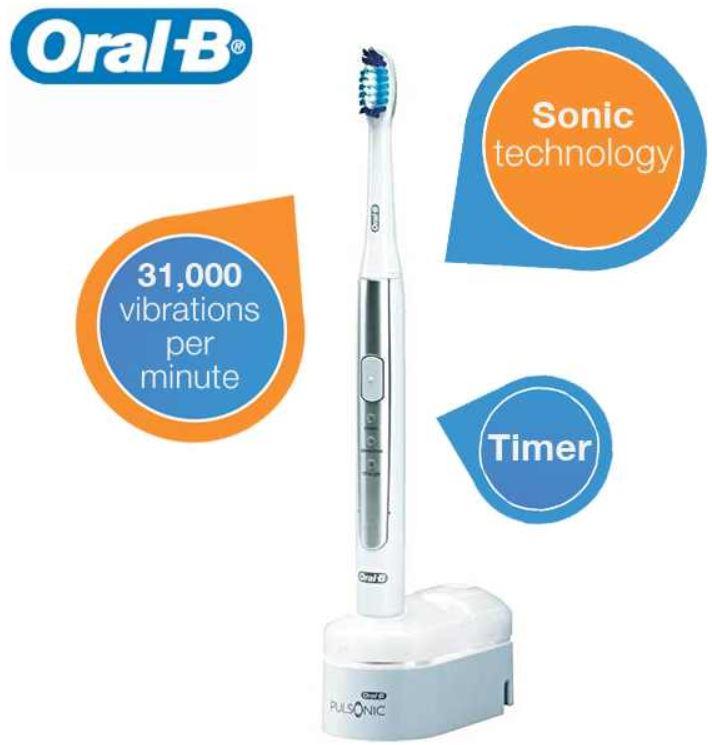 Oral B Pulsonic S15 elektrische Zahnbürste für 35,90€