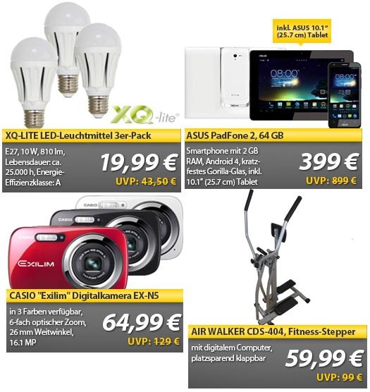 Asus PadFone 2 64GB mit 10″ Tablet für 399€ und weitere...   OHA Deals