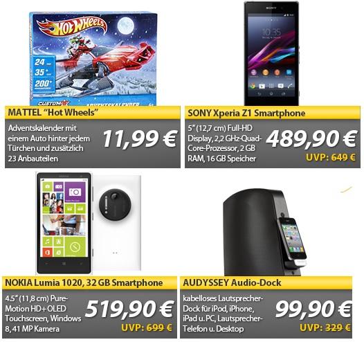 SONY Xperia Z1 für 489,90€   Nokia Lumia 1020 für 519,90€ ...   OHA Deals